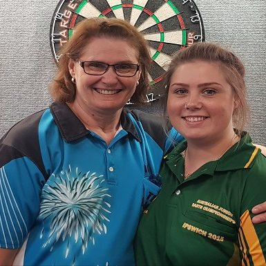 Bob Grayson Memorial 2019 Open Winner Dot McLeod, (L) Rup Angela Clarke.